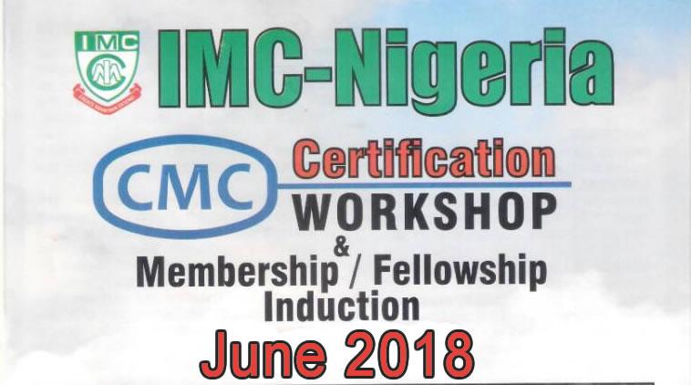 CMC Certification Workshop, Membership & Fellowship Induction – June ...